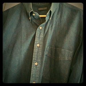 Lands' End men's denim made in USA shirt